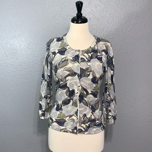 Banana Republic | Floral Button Cardigan Sweater